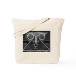 Joyful Mask B&W Tote Bag