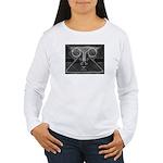 Joyful Mask B&W Women's Long Sleeve T-Shirt