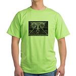 Joyful Mask B&W Green T-Shirt