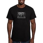 Joyful Mask B&W Men's Fitted T-Shirt (dark)