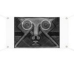Joyful Mask B&W Banner