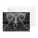 Joyful Mask B&W Greeting Cards (Pk of 10)