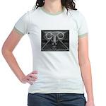 Joyful Mask B&W Jr. Ringer T-Shirt