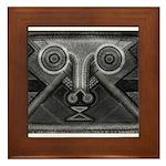 Joyful Mask B&W Framed Tile