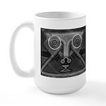 Joyful Mask B&W Large Mug
