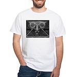 Joyful Mask B&W White T-Shirt