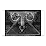 Joyful Mask B&W Sticker (Rectangle)