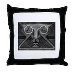 Joyful Mask B&W Throw Pillow