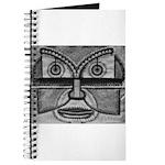 Folk Art Mask in B&W Journal