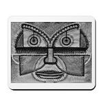 Folk Art Mask in B&W Mousepad