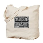 Folk Art Mask in B&W Tote Bag