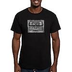 Folk Art Mask in B&W Men's Fitted T-Shirt (dark)