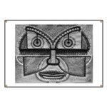 Folk Art Mask in B&W Banner