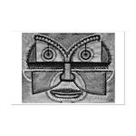 Folk Art Mask in B&W Mini Poster Print