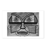 Folk Art Mask in B&W Postcards (Package of 8)