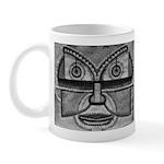 Folk Art Mask in B&W Mug
