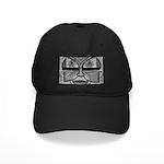 Folk Art Mask in B&W Black Cap