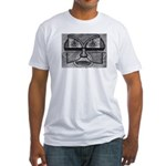 Folk Art Mask in B&W Fitted T-Shirt