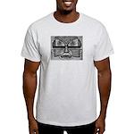 Folk Art Mask in B&W Light T-Shirt