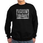 Folk Art Mask in B&W Sweatshirt (dark)