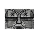 Folk Art Mask in B&W Rectangle Magnet