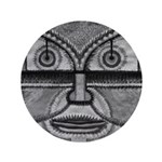 Folk Art Mask in B&W 3.5