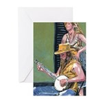 Street Musicians French Quarter Greeting Cards (Pk