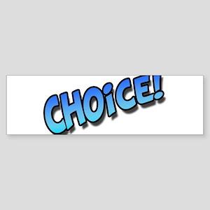 Choice Blue Sticker (Bumper)