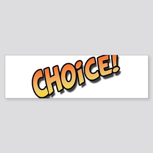Choice Orange Sticker (Bumper)