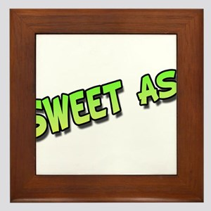 Sweet as green Framed Tile