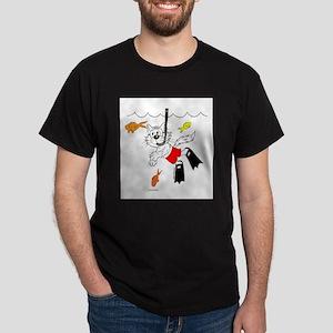 Scuba / Snorkle Cat Apparel Dark T-Shirt