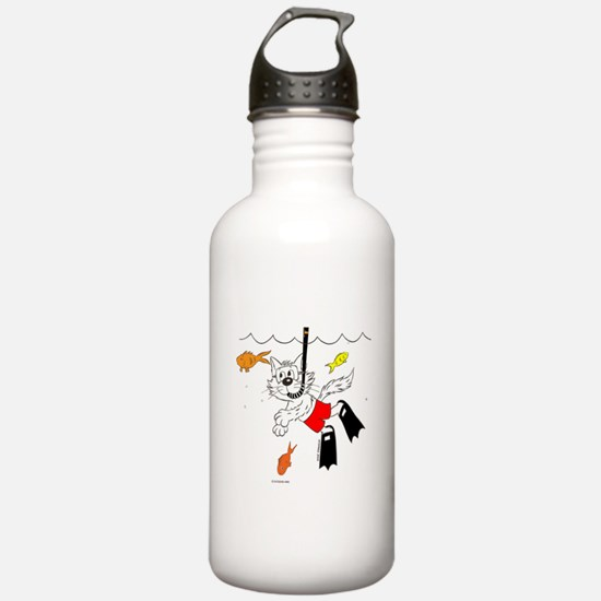 Scuba / Snorkle Cat Water Bottle
