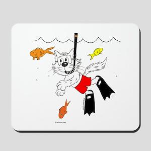 Scuba Diving / Snorkle Cat Mousepad