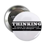 """Thinking is not illegal 2.25"""" Button (100 pac"""