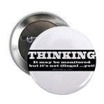 """Thinking is not illegal 2.25"""" Button"""
