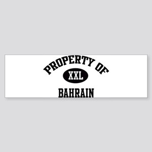 Property of Bahrain Bumper Sticker