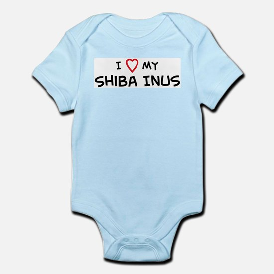 I Love Shiba Inus Infant Creeper