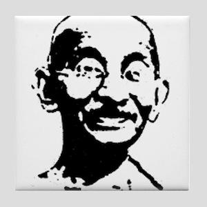 Gandhi shirt Tile Coaster