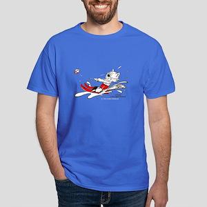 Waterski Cat Apparel Dark T-Shirt