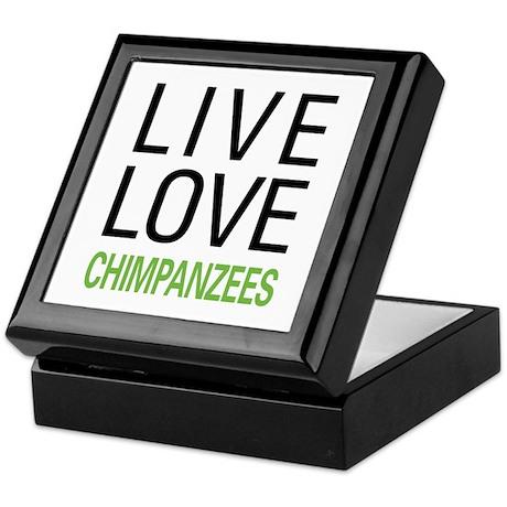 Live Love Chimpanzees Keepsake Box