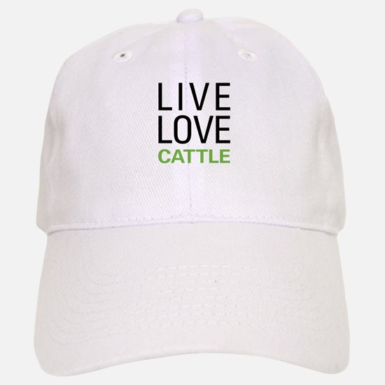 Live Love Cattle Baseball Baseball Cap