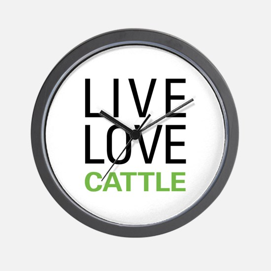 Live Love Cattle Wall Clock