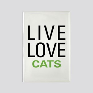 Live Love Cats Rectangle Magnet