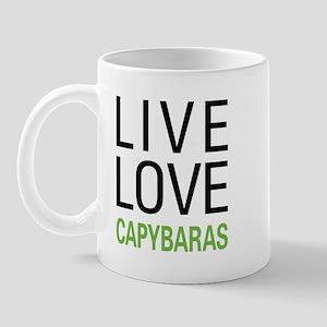Live Love Capybaras Mug