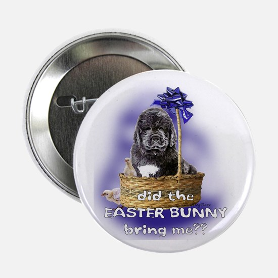 Easter Newfoundland Puppy Button