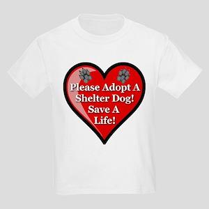 Adopt A Shelter Dog Kids Light T-Shirt