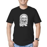 B&W Skull Men's Fitted T-Shirt (dark)