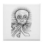 B&W Skull Tile Coaster