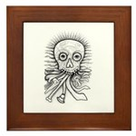 B&W Skull Framed Tile