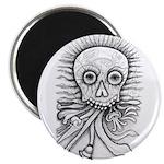 B&W Skull Magnet